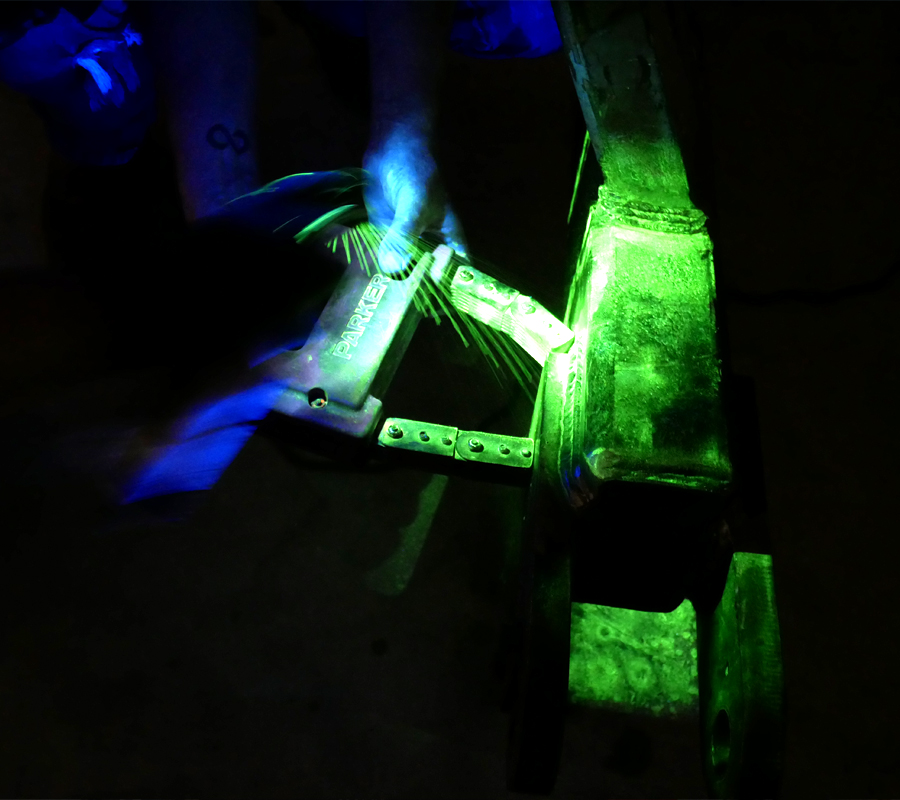 oilfield magnetic particle testing